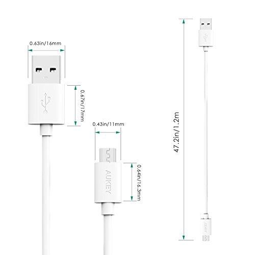 Aukey CB-D10 3 Pack Mirco USB Cables (White)