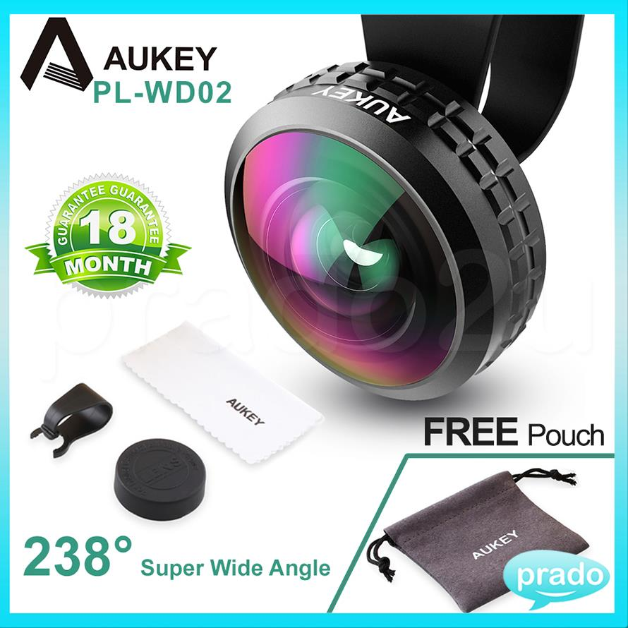 AUKEY Professional Lens 238� Super Wide Angle FOV Optic Selfie WD02