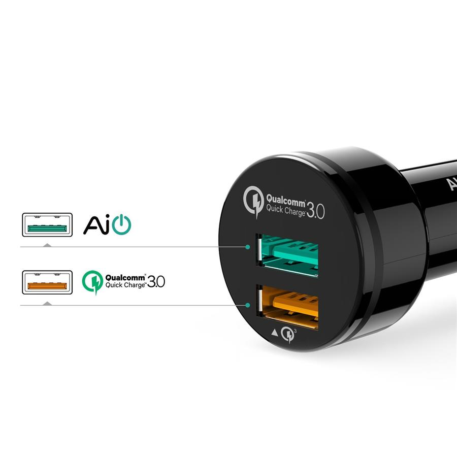 Qualcomm Quick Charge    Usb Port Car Charger