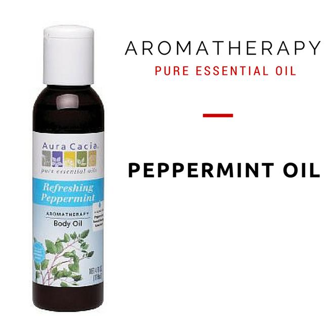 Aura Cacia, Aromatherapy Body Oil, Refreshing Peppermint (118 ml)