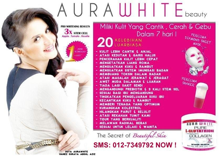 Aura White Gluta Collagen 400,000 mg