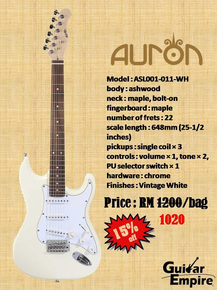 Auron Stratocaster Rosewood Neck with gig bag
