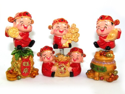 Auspicious Springy Five Wealth Gods for Prosperity and Windfall Luck