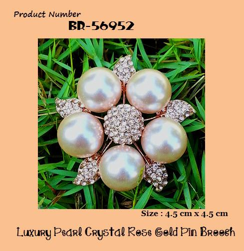 Austrian Crystal - Luxury Pearl Starfish Crystal Rose Gold Pin Brooch
