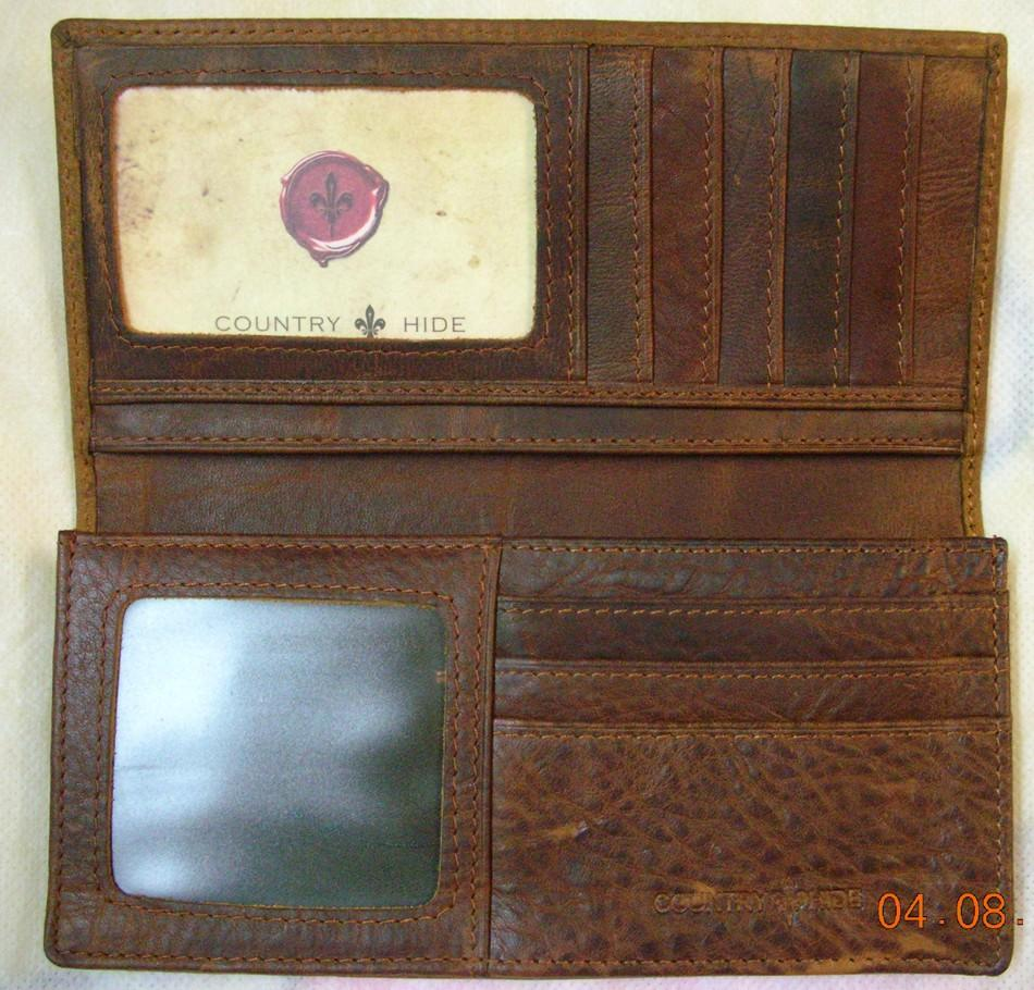 Authentic Country Hide Real Leather Wallet/Purse~New