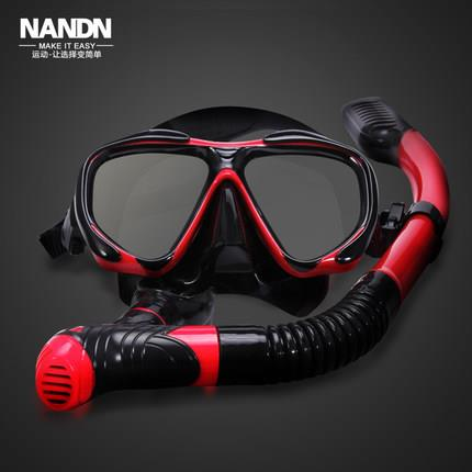 Authentic snorkeling breathing tube anti-fog goggles equipment