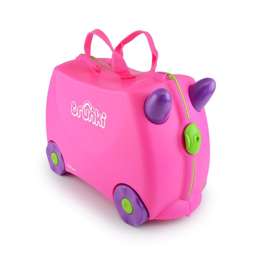 New Authentic Trunki TRIXIE Pink Travel Suitcase