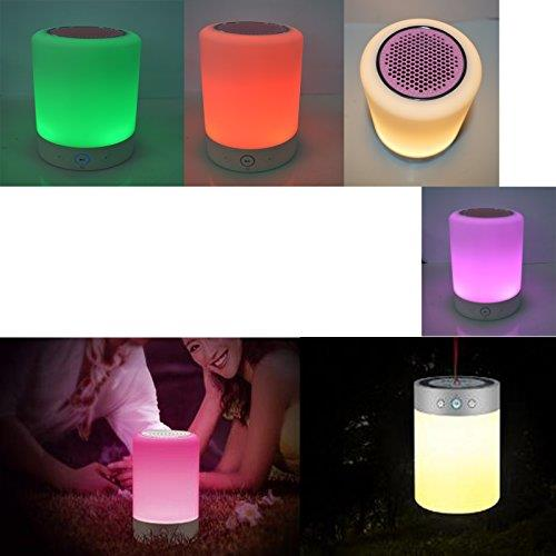 Auto Smart Music Light Bluetooth Speaker Lamp Touch Color Change