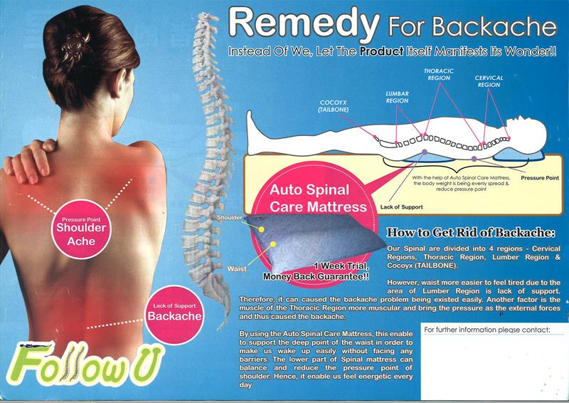 Auto Spinal Care Water Mattress for Back Pain Relief