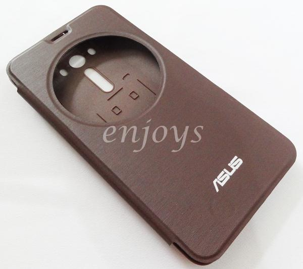 Auto Wake BROWN S View Cover Case Asus Zenfone 2 Laser 5.5 ZE550KL