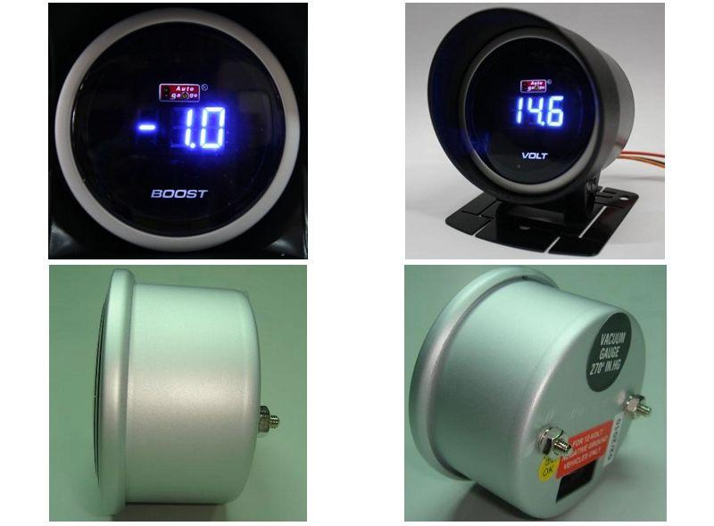 AUTOGAUGE 52mm Digital Blue LED Boost Meter [621]