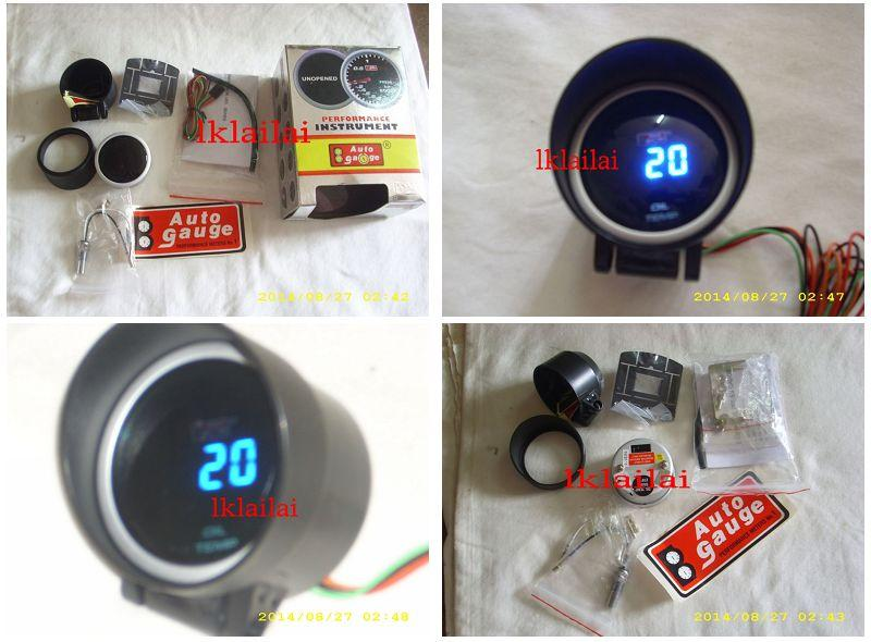 AUTOGAUGE 52mm Digital Blue LED Oil Temp Meter [624]