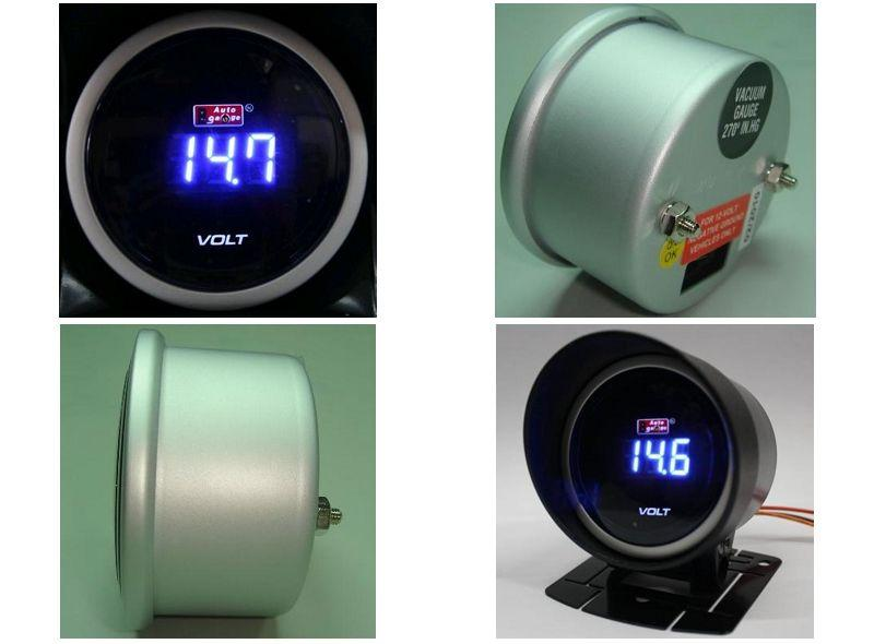 AUTOGAUGE 52mm Digital Blue LED Volt Meter [626 ]