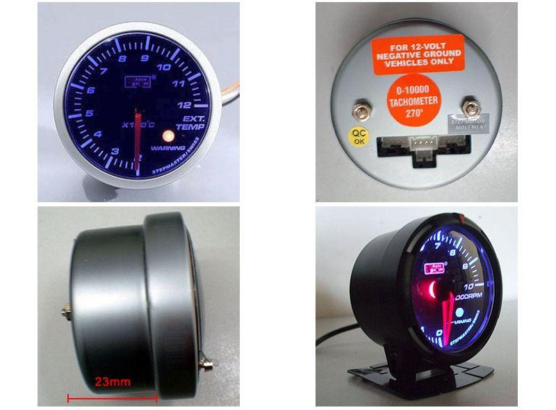 AUTOGAUGE 60mm Blue Racer Black Face Exhaust Temp Meter [321]