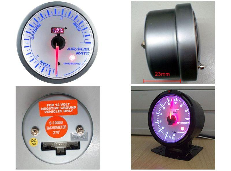 AUTOGAUGE 60mm Blue Racer White Face Air / Fuel Ratio Meter [521]