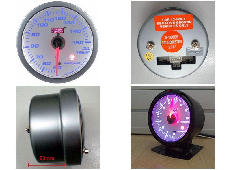 AUTOGAUGE 60mm Blue Racer White Face Oil Temp Meter [ 518]