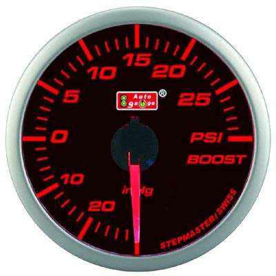 AUTOGAUGE 60mm Super Amber and White Boost Meter  [299]