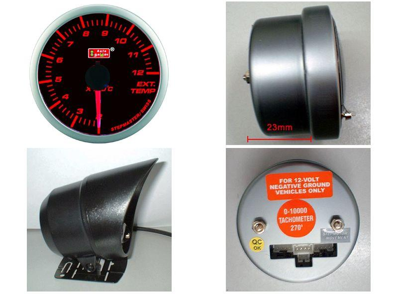 AUTOGAUGE 60mm Super Amber and White Exhaust Temp Meter [301]