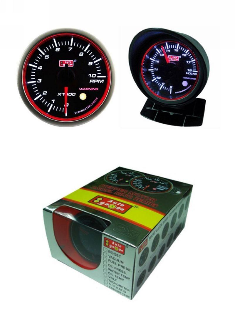 AUTOGAUGE 60mm Super White LED Angel Ring Face RPM Tachometer [656]