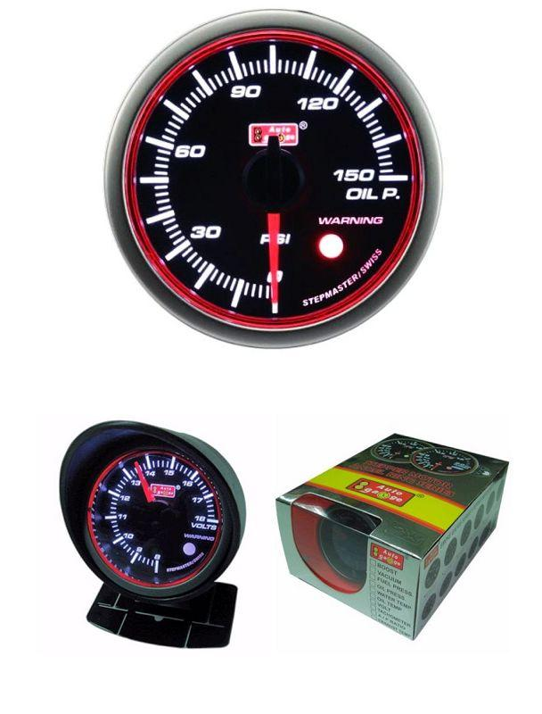 AUTOGAUGE 60mm Super White LED Angel Ring Oil Pressure Meter [654]