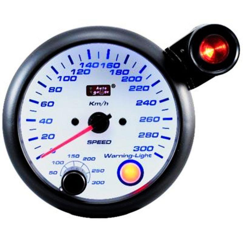 AUTOGAUGE 95mm Blue Racer White Face Speed Meter [222]