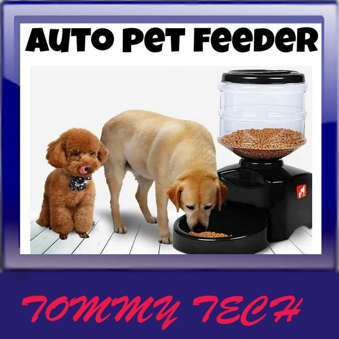 Automatic 5 LPet Feeder Voice Recording LCD screen