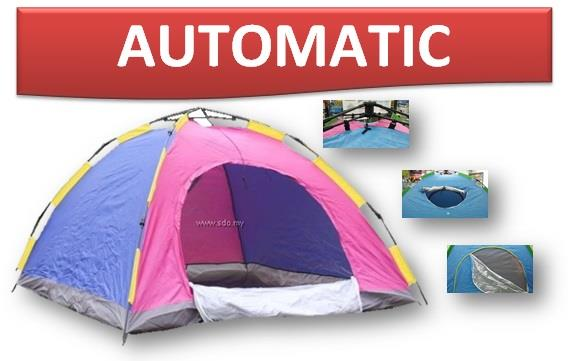 AUTOMATIC CAMPING TENT 4 PERSON