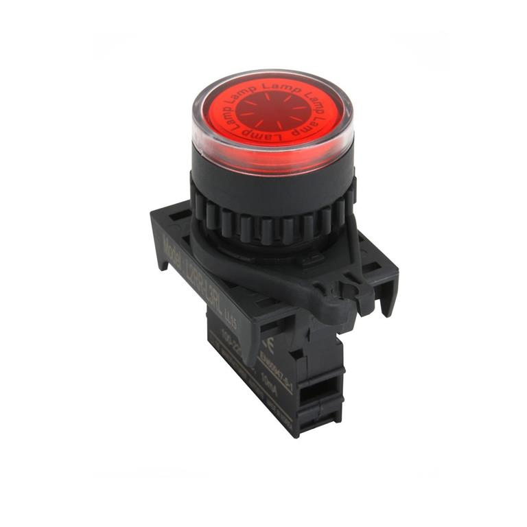 AUTONICS Illuminated Push Button S2PR-P3RABD, Red, NONC Contact,�22/25