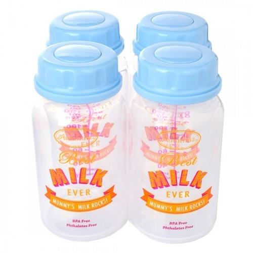 Autumnz - B/M Storage Btls (4 btls) - Best Milk Ever *Baby Blue*