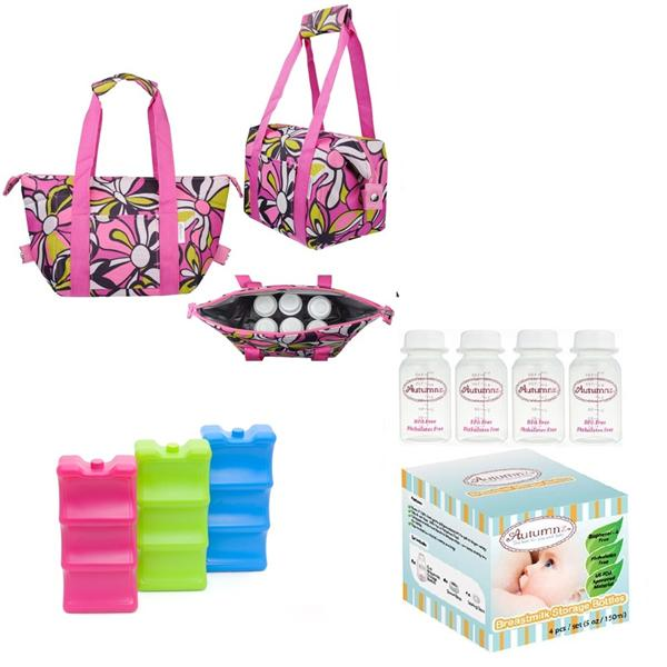 Autumnz Chic 2-in-1 Convertible Cooler Bag Package - Peony