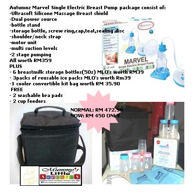 Autumnz Marvel single electric breast pump package