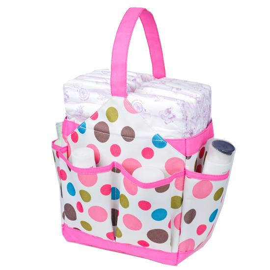 Autumnz Portable Diaper Caddy - Cottontail Rose