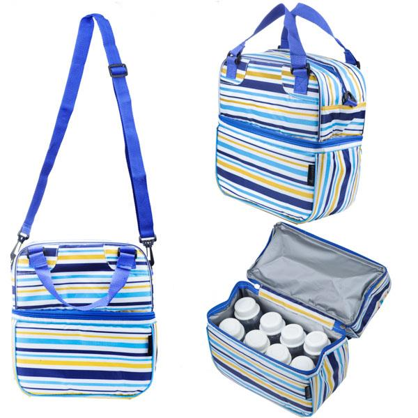 Autumnz Posh Cooler Bag - Beaming Blue Stripe + *FREE GIFT*