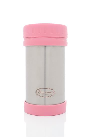 Autumnz Stainless Steel Food Jar 500ML(PINK)