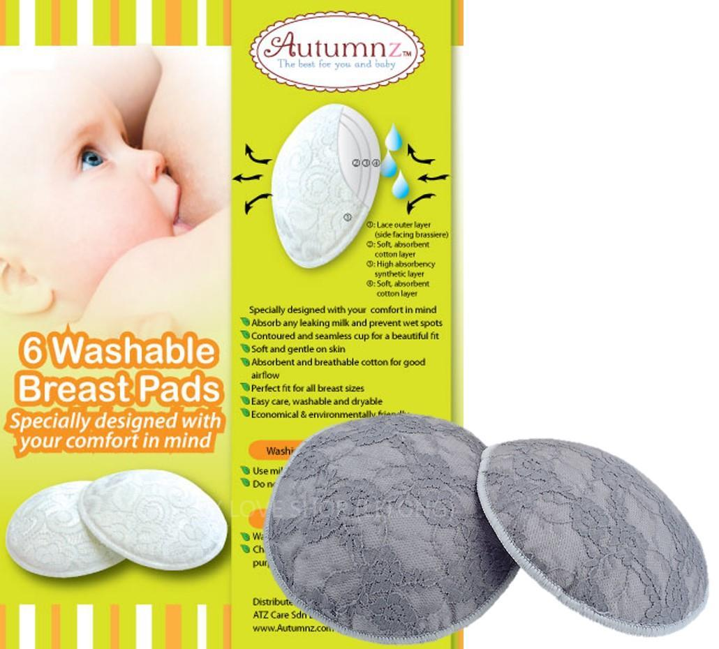 Autumnz Washable Breastpads 6 pcs Color random pick