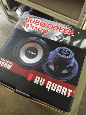 "AV Quart 12"" car woofers new arrival 👍👍👍"