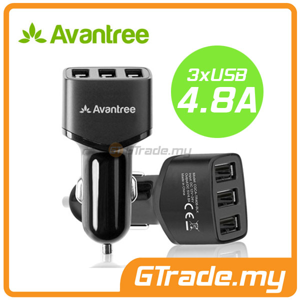 AVANTREE 3 USB Car Charger 4.8A Samsung Galaxy S7 S6 Edge S5 S4