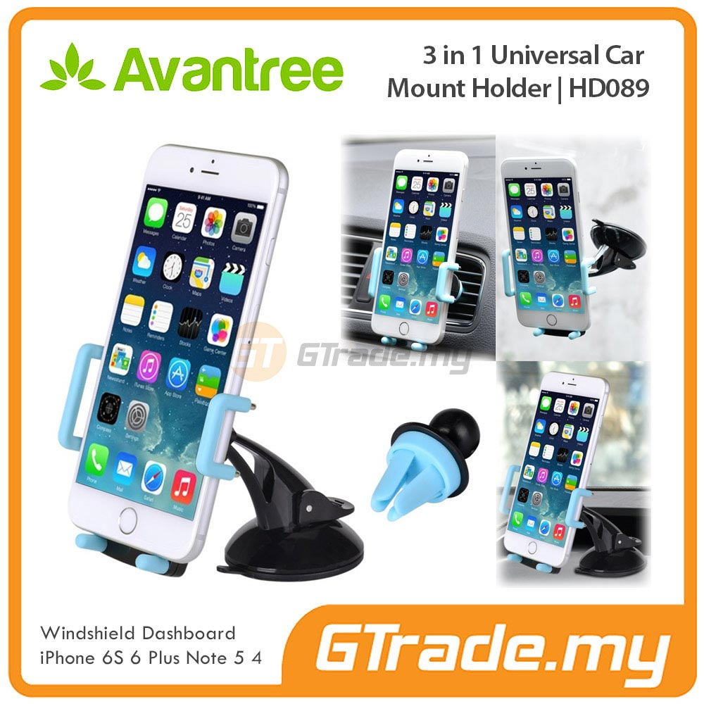 AVANTREE Car Phone Holder 3 in 1 BL Samsung Galaxy S7 S6 Edge S5 S4 S3