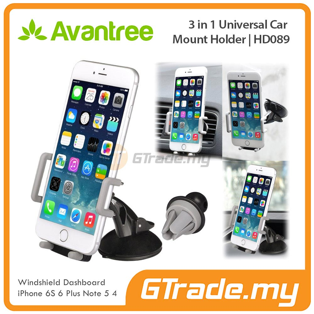 AVANTREE Car Phone Holder 3 in 1 GY Samsung Galaxy S7 S6 Edge S5 S4 S3