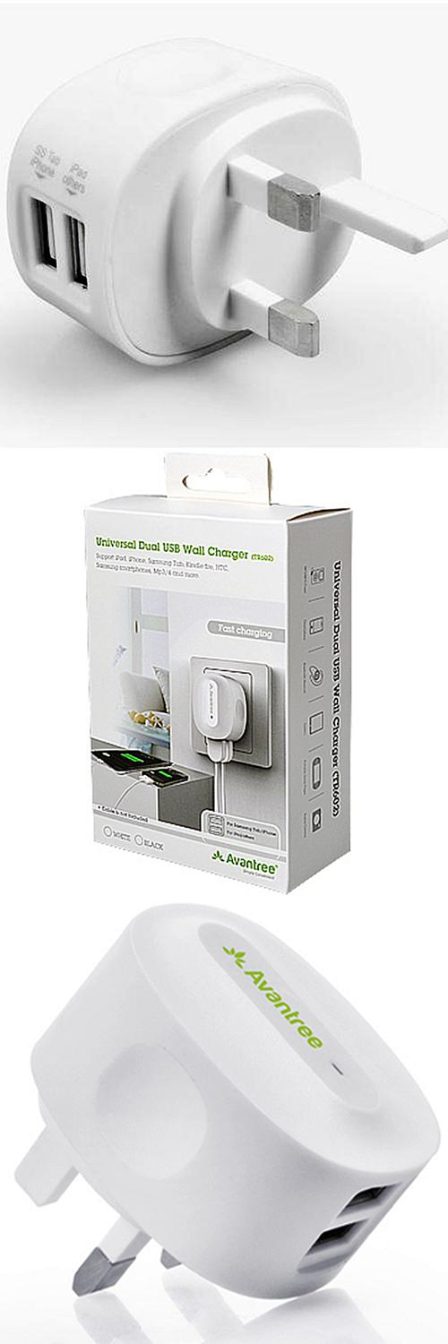 AVANTREE TR602 2.1A Fast Charging Duo USB Charger Smartphone/Tablet