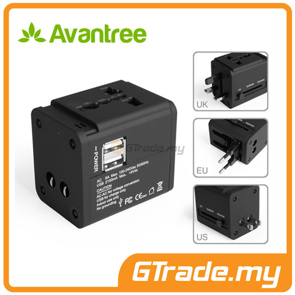 AVANTREE Universal Adapter Plug USB Charger HTC 10 One A9 M9 M8 M7