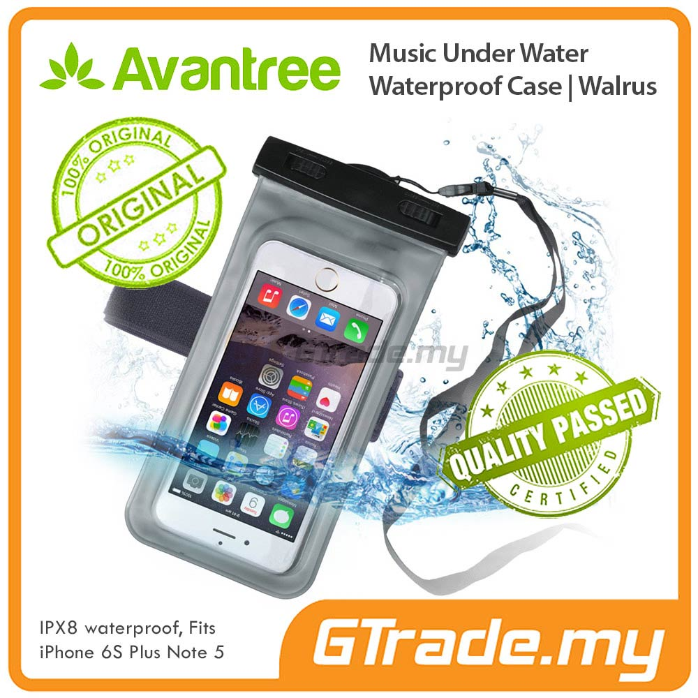 AVANTREE Waterproof Bag Case Earphone Jack Samsung Galaxy S7 S6 Edge
