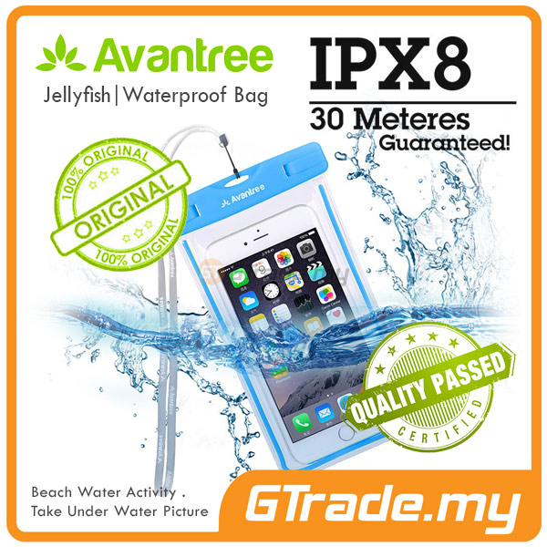 AVANTREE Waterproof Bag Case Universal BL HTC 10 One A9 M9+Plus M8 M7