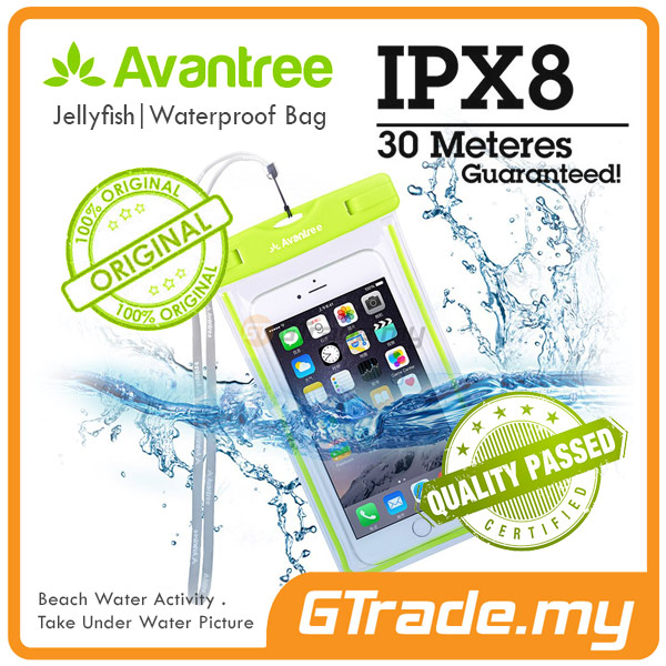 AVANTREE Waterproof Bag Case Universal GR Apple iPhone 7 7S Plus