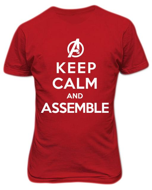 Avengers Keep Calm and Assemble T-shirt Red