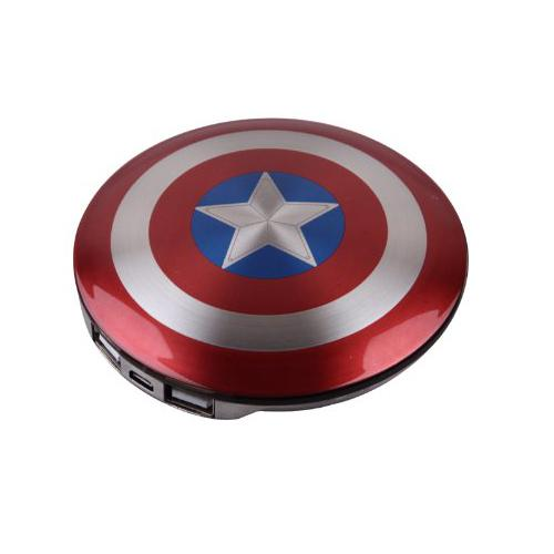 Avengers Captain America Shield Power Bank 6800mAH
