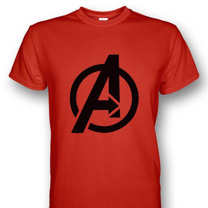 Avengers logo red t shirt bla end 7 1 2018 12 00 am myt for My logo on a shirt