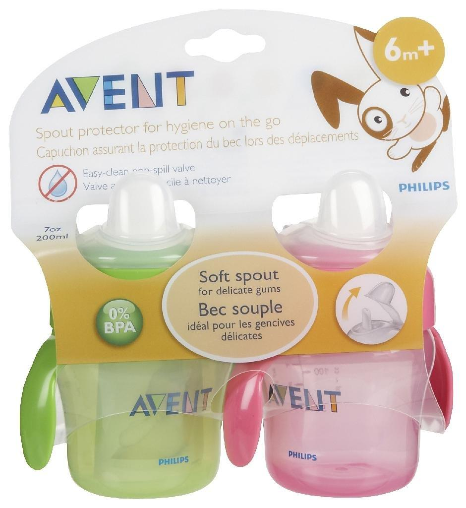 Avent Magic Trainer Cup w/ Handles - 7 oz - 2 Pk - Girl