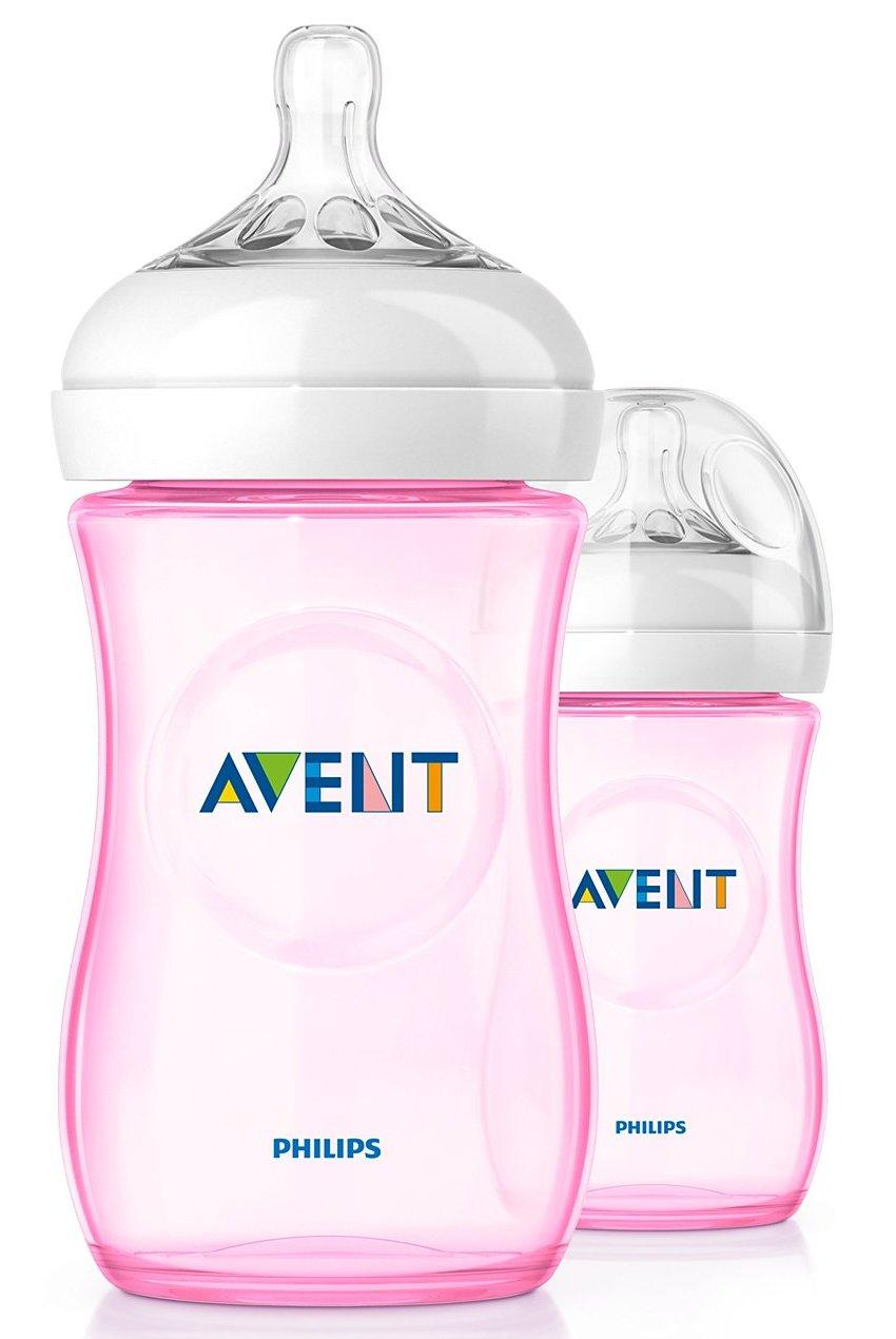 Avent Natural Pink Bottle 9oz / 260ml Twin Pack