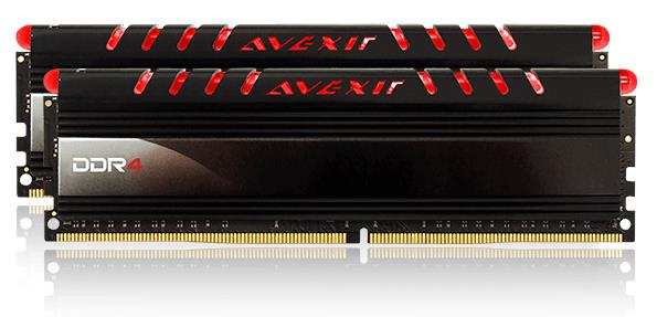 AVEXIR CORE SERIES 8GB DDR4 2400MHZ RAM(4GB X 2) RED